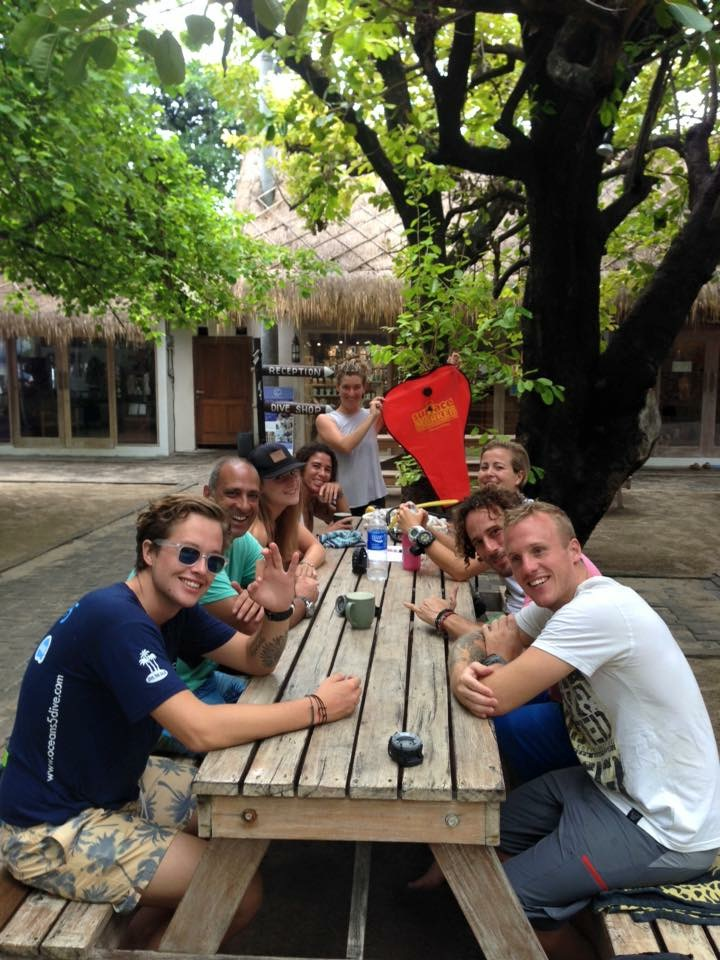 PADI Divemaster training at Oceans 5 dive resort Gili Air in Indonesia