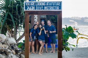 PADI IDC Gili Islands with PADI Course Directors Joeri and Giny