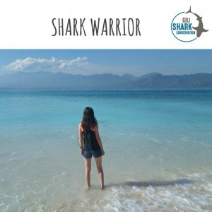 Shark warrior Nicole at Gili Air