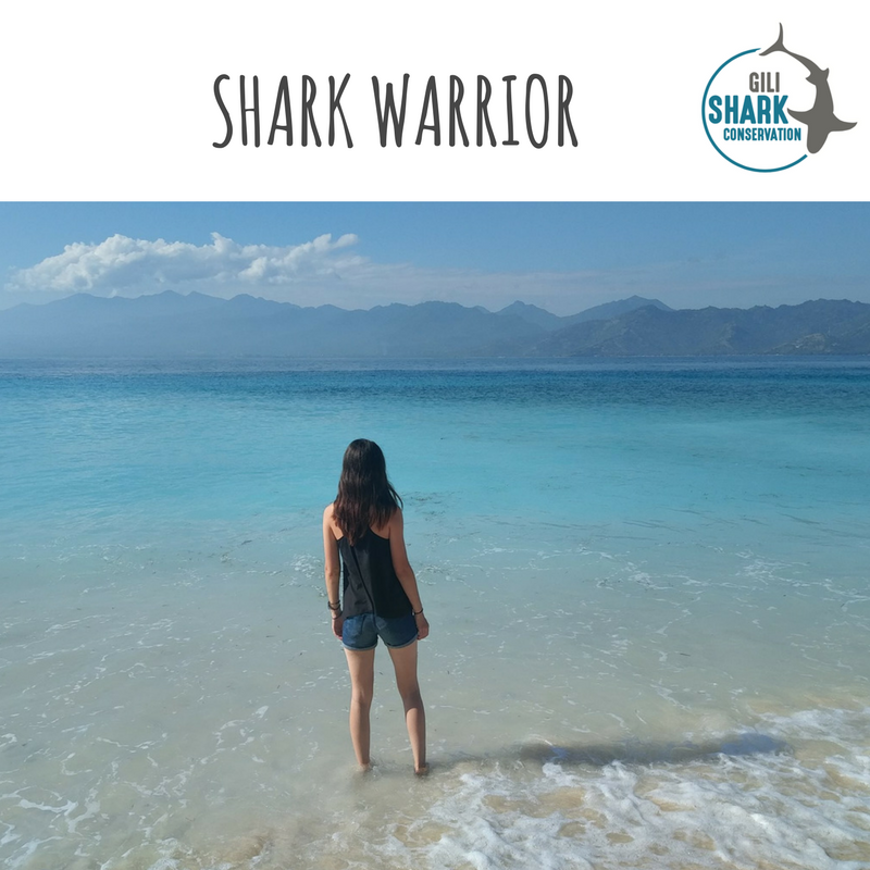 Shark warrior Nicole at Gili Air