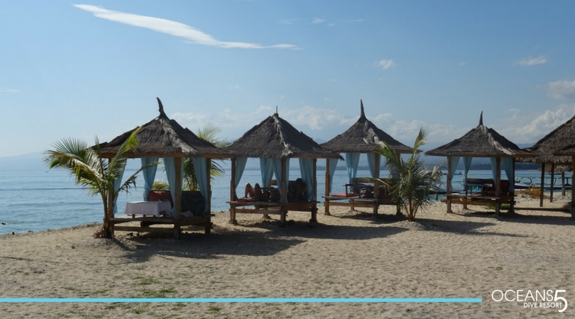 Beach chairs on Gili Air