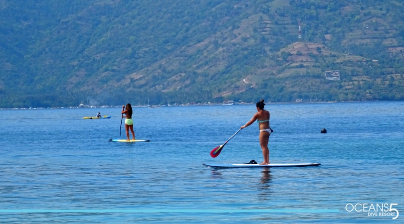 Paddle boarding around Gili Air