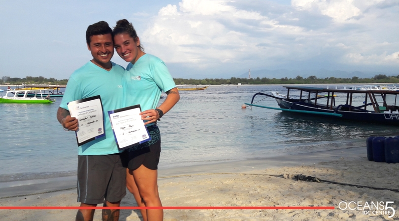 Megan and Salvador with their Instructor certificates