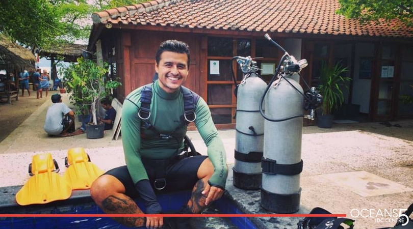 Sal completing Sidemount speciality