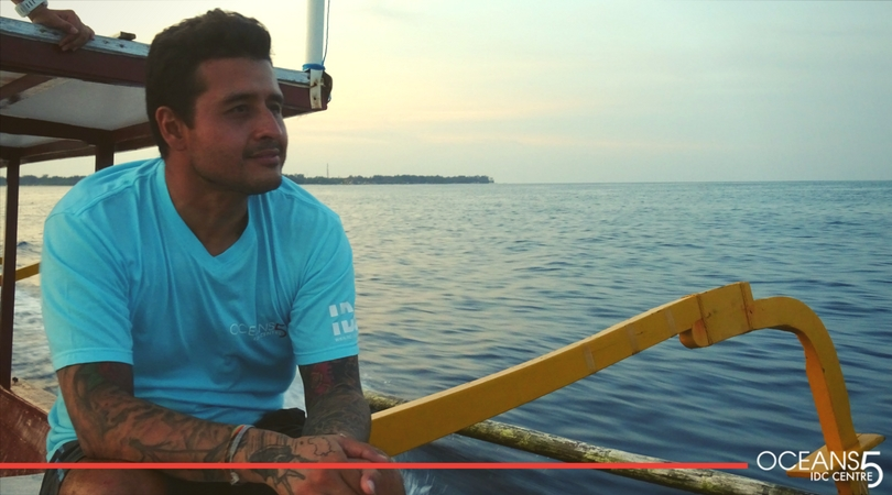 Sal looking out on the dive boat