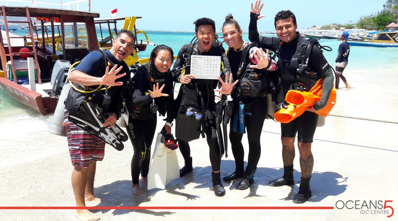 IDC candidates coming back from a training dive