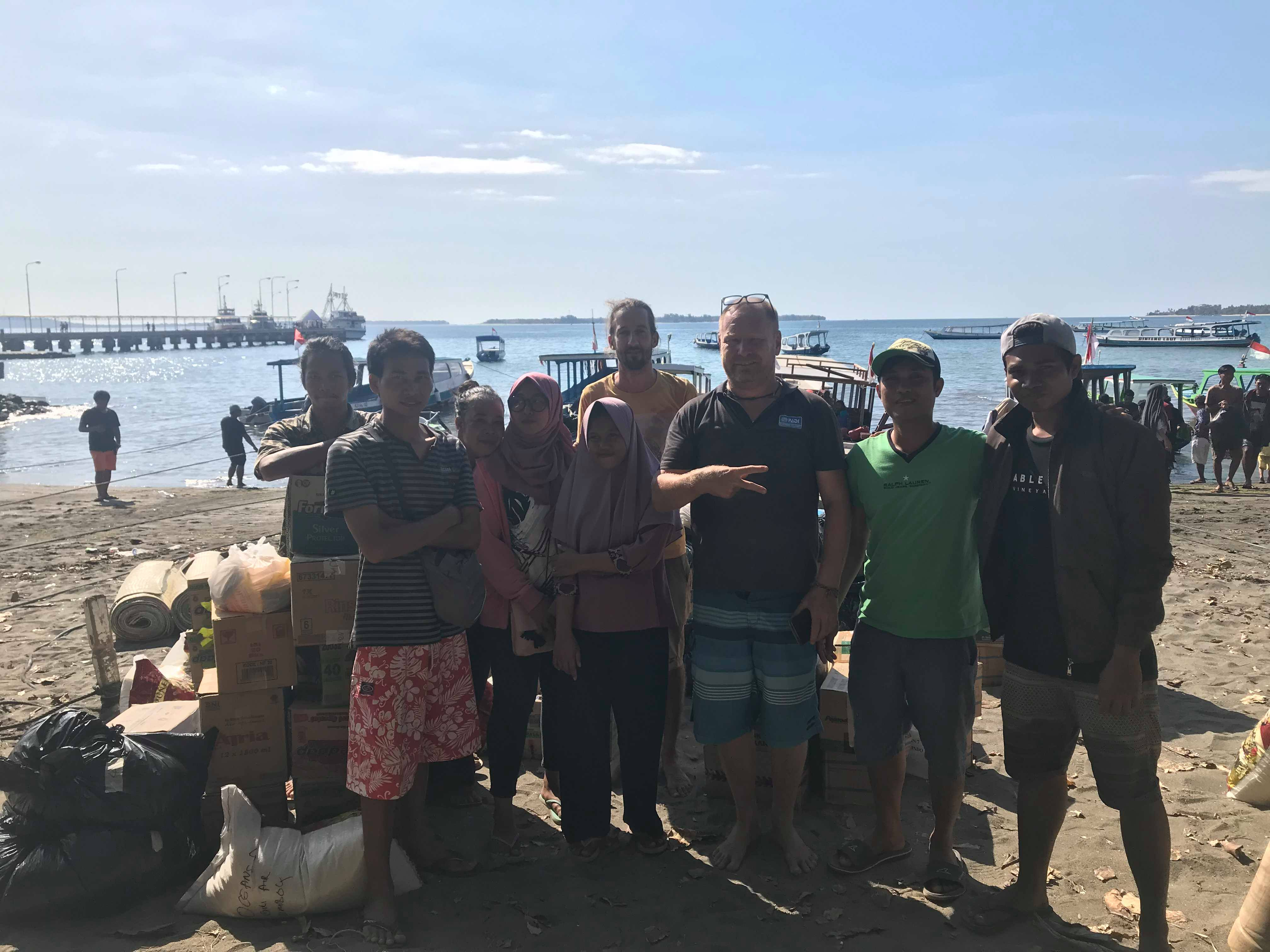 Supplies arrived in Lombok after the earthquak