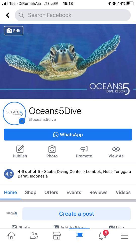 Oceans5Dive Facebook