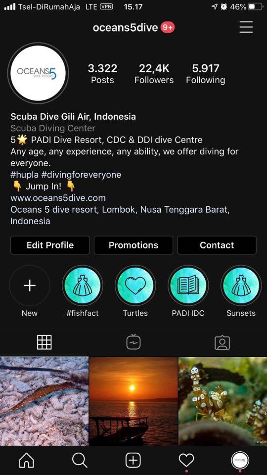 Oceans5Dive Instagram