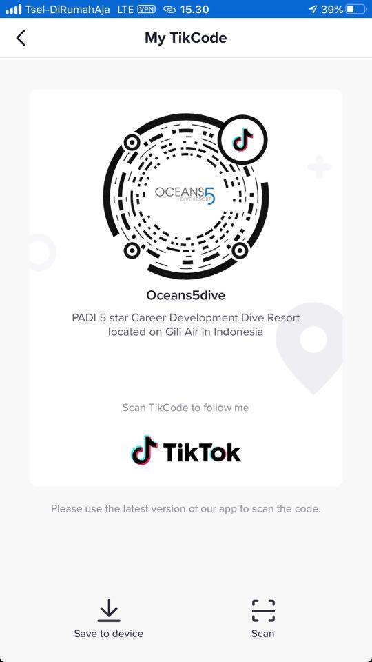 Oceans5Dive TikTok Code