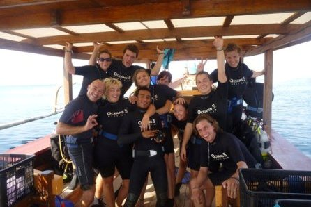 Diving with dive resort Oceans 5 around the Gili islands Indonesia