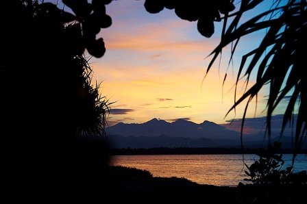 The sunset at Dive resort Oceans 5 Gili Air is amazing