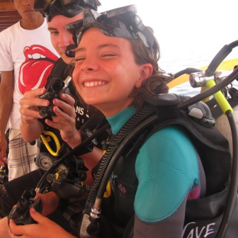Intrioduction dives or PADI Discover Scuba Dives are starting every day at Dive resort Oceans 5 Gili Air, Indonesia