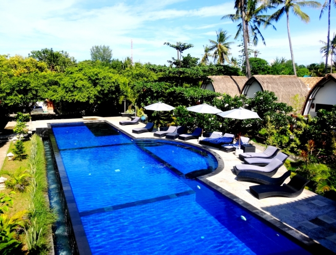 5 IDC Resort Oceans 5-Gili Air-Rooftop room-balcony view